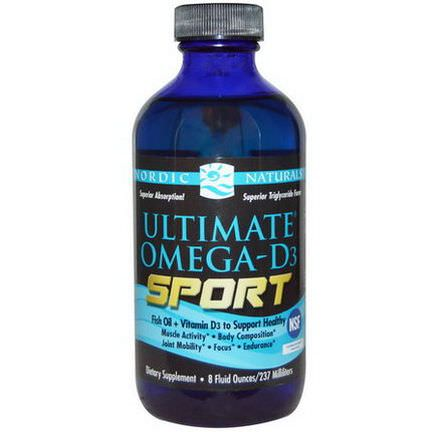 Nordic Naturals, Ultimate Omega-D3 Sport 237ml