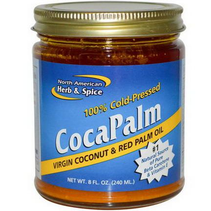 North American Herb&Spice Co. CocaPalm, Virgin Coconut&Red Palm Oil 240ml