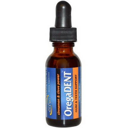 North American Herb&Spice Co. OregaDent, Cinnamon and Clove Power 30ml
