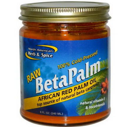 North American Herb&Spice Co. Raw BetaPalm, African Red Palm Oil 240ml