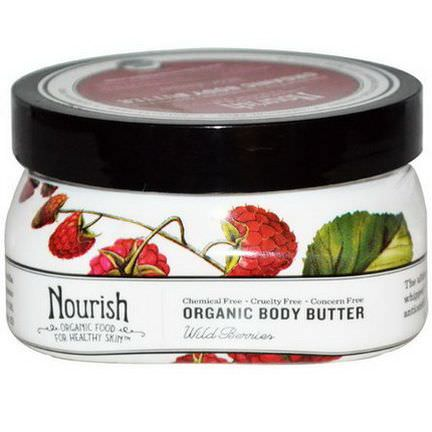 Nourish Organic, Body Butter, Wild Berries 102g