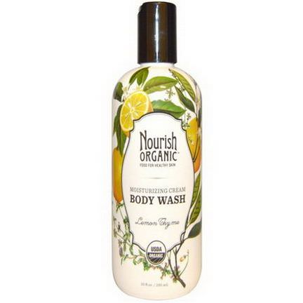 Nourish Organic, Moisturizing Cream Body Wash, Lemon Thyme 295ml