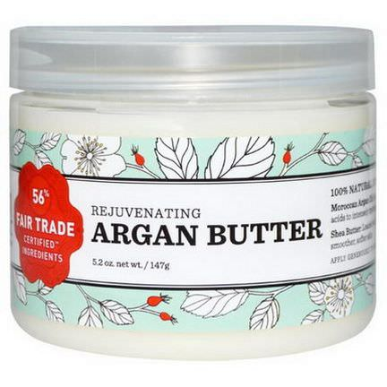 Nourish Organic, Rejuvenating Argan Butter 147g