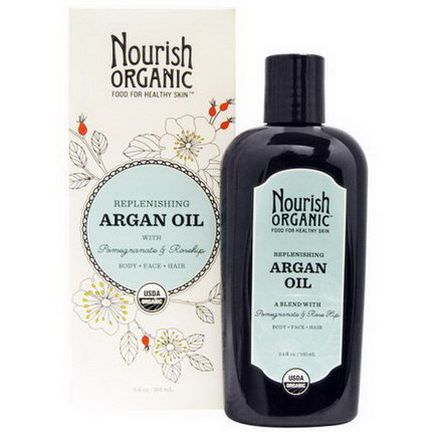 Nourish Organic, Replenishing Argan Oil with Pomegranate and Rosehip 101ml