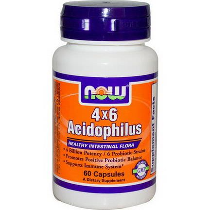 Now Foods, 4x6 Acidophilus, 60 Capsules
