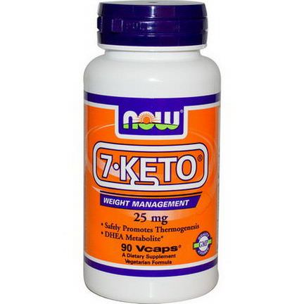 Now Foods, 7-KETO, 25mg, 90 Vcaps
