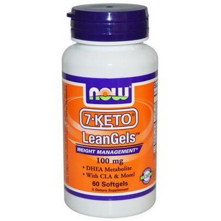 Now Foods, 7-Keto, LeanGels, Weight Management, 100mg, 60 Softgels