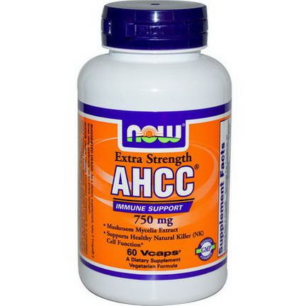 Now Foods, AHCC, Extra Strength, 750mg, 60 Vcaps