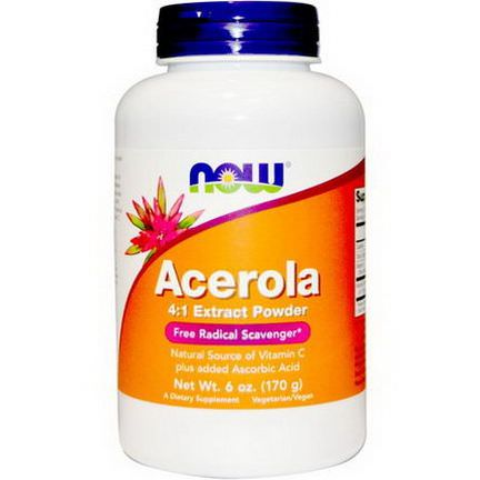 Now Foods, Acerola 4:1 Extract Powder 170g