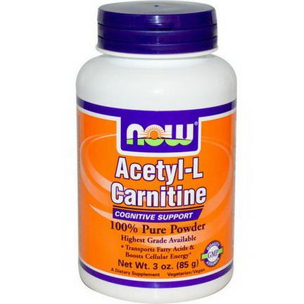 Now Foods, Acetyl-L-Carnitine 85g