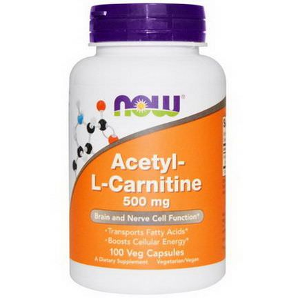 Now Foods, Acetyl-L-Carnitine, 500mg, 100 Veg Caps