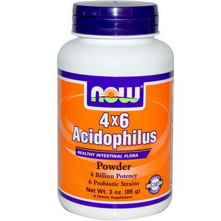 Now Foods, Acidophilus 4x6, Powder 85g