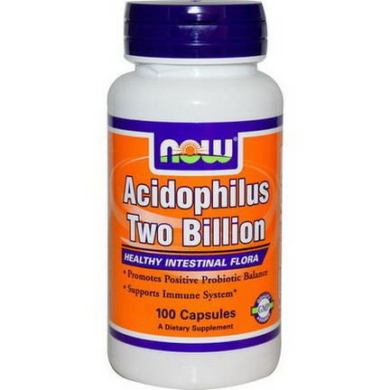 Now Foods, Acidophilus Two Billion, 100 Capsules