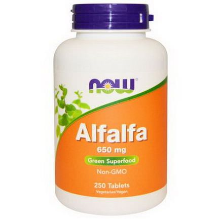 Now Foods, Alfalfa, 650mg, 250 Tablets