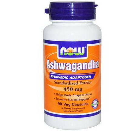 Now Foods, Ashwagandha, 450mg, 90 Veggie Caps