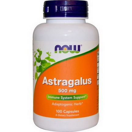 Now Foods, Astragalus, 500mg, 100 Capsules