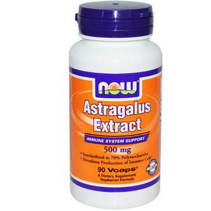 Now Foods, Astragalus Extract, 500mg, 90 Vcaps