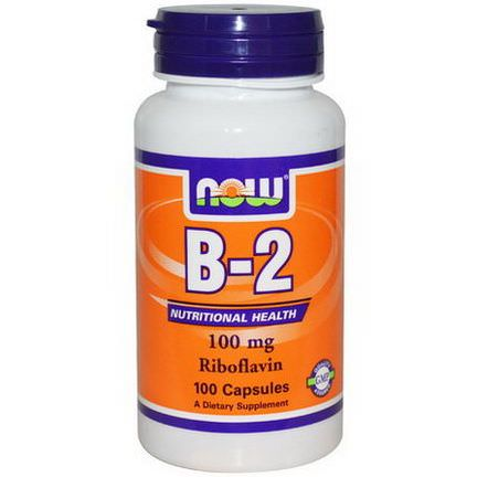 Now Foods, B-2, 100mg, 100 Capsules