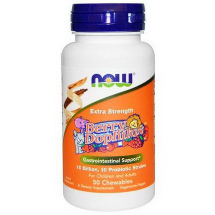 Now Foods, Berry Dophilus, Extra Strength, 50 Chewables