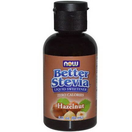Now Foods, Better Stevia Liquid Sweetener, Hazelnut 60ml