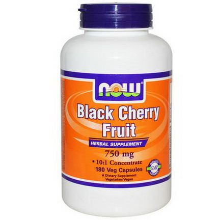 Now Foods, Black Cherry Fruit, 750mg, 180 Veggie Caps