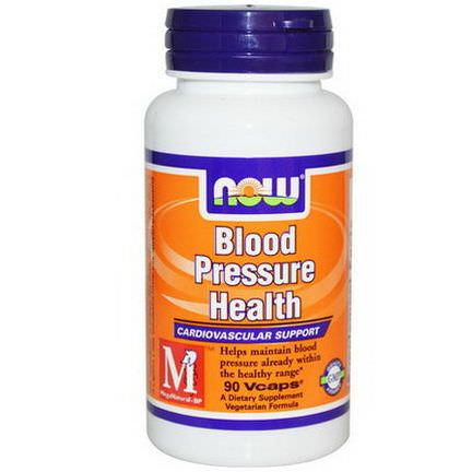 Now Foods, Blood Pressure Health, 90 Vcaps