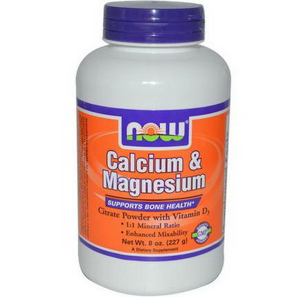 Now Foods, Calcium&Magnesium, High Absorption 227g