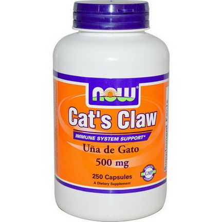 Now Foods, Cat's Claw, 500mg, 250 Capsules