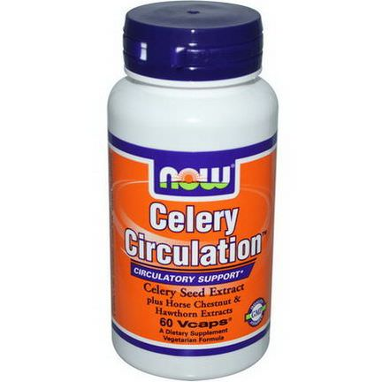 Now Foods, Celery Circulation, 60 Vcaps