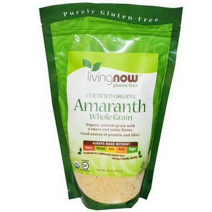 Now Foods, Certified Organic Amaranth Whole Grain 454g