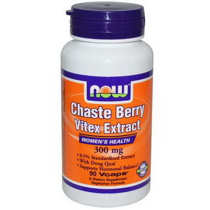 Now Foods, Chaste Berry Vitex Extract, 300mg, 90 Vcaps