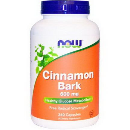 Now Foods, Cinnamon Bark, 600mg, 240 Capsules