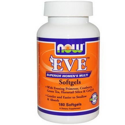 Now Foods, EVE Superior Women's Multi Softgels, 180 Softgels
