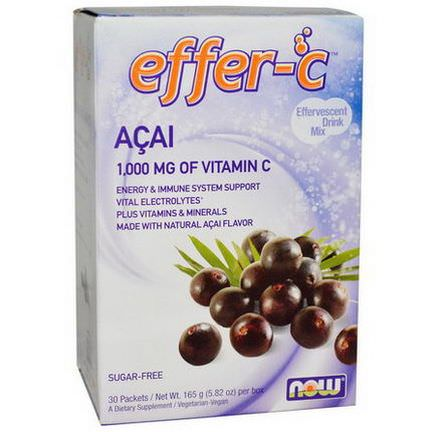 Now Foods, Effer-C, Effervescent Drink Mix, Acai, 30 Packets 165g