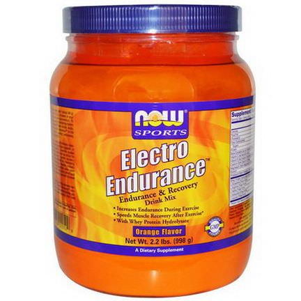 Now Foods, Electro Endurance, Orange Flavor 998g