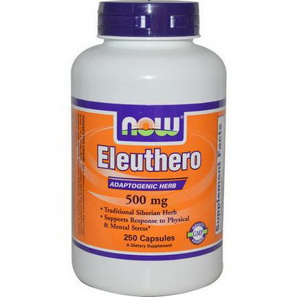 Now Foods, Eleuthero, 500mg, 250 Capsules