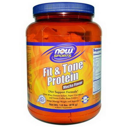 Now Foods, Fit&Tone Protein, Mocha Flavor 816g