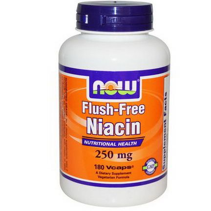 Now Foods, Flush-Free Niacin, 250mg, 180 Vcaps