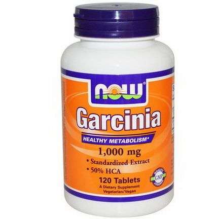 Now Foods, Garcinia, 1,000mg, 120 Tablets