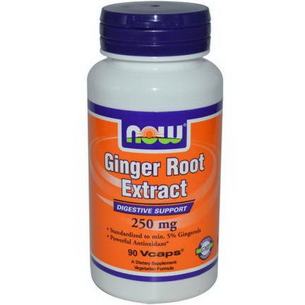Now Foods, Ginger Root Extract, 250mg, 90 Vcaps