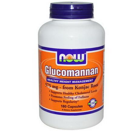 Now Foods, Glucomannan, 575mg, 180 Capsules