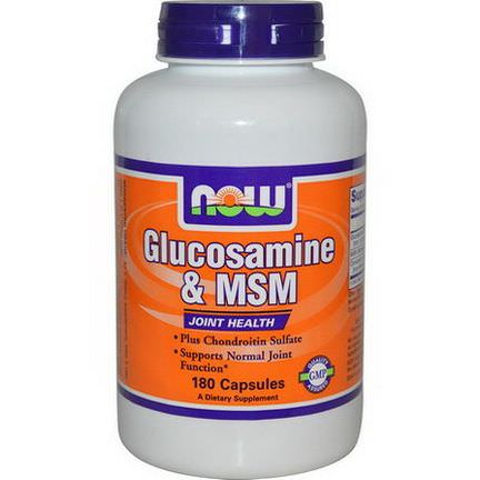 Now Foods, Glucosamine&MSM, 180 Capsules