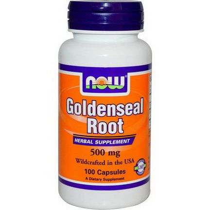 Now Foods, Goldenseal Root, 500mg, 100 Capsules