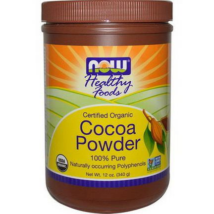 Now Foods, Healthy Foods, Certified Organic, Cocoa Powder 340g