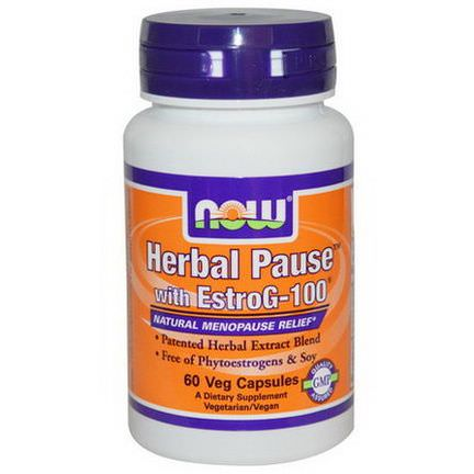 Now Foods, Herbal Pause With EstroG-100, 60 Veggie Caps