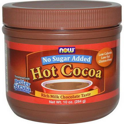 Now Foods, Hot Cocoa, No Added Sugar, Powder 284g