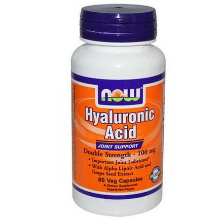 Now Foods, Hyaluronic Acid, Double Strength, 100mg, 60 Veggie Caps