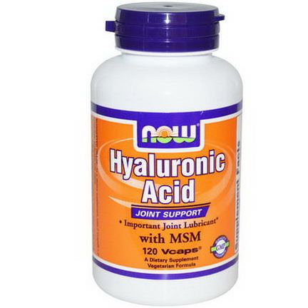 Now Foods, Hyaluronic Acid With MSM, 120 Vcaps