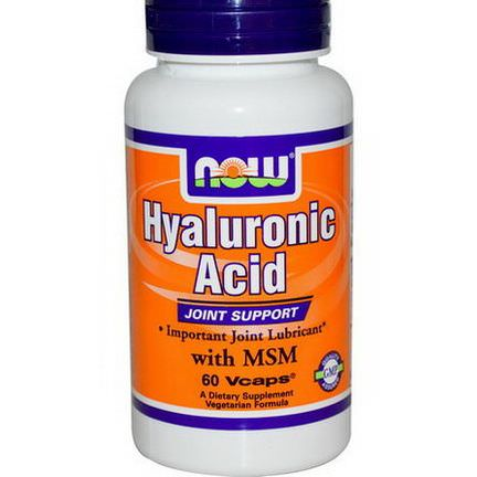 Now Foods, Hyaluronic Acid, with MSM, 60 Vcaps