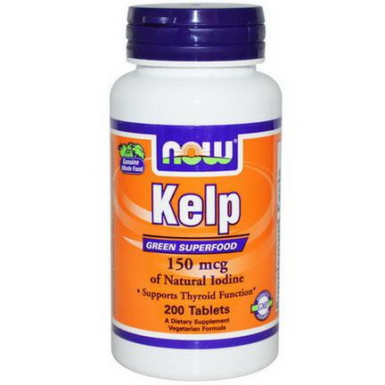 Now Foods, Kelp, 150mcg, 200 Tablets
